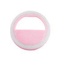 selbstbedienung für handy großhandel-Luxus Selfie Luminous LED Leuchten Telefon Ring für Mobile Smart Phone Pink