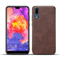 Wholesale crazy cell phone cases online – custom Vintage Crazy Horse PU Leather Soft TPU Case For Huawei P20 Lite P20 Pro Galaxy S9 Plus Retro Silicone Cover Cell Phone Back Cover Skin