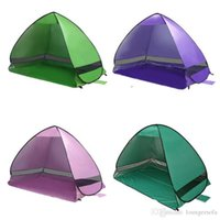 Wholesale gazebo tents online - Auto Pop Up Camping Tents UV Protection Visor Shelters For Outdoor Hiking Sea Beach Canopy Tent Brief Gazebo Many Colors fl ZZ