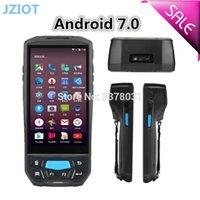 wifi kamera scanner großhandel-Industrieller androider Hand-2D-Barcodescanner 1D / PDA mit NFC GPS-Kamera bluetooth wifi 4g
