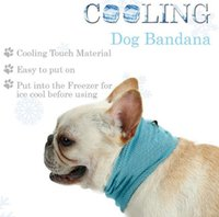 Wholesale pet scarf small for sale - Instant Cooling Pet Bandana Dog Scarf Bulldog Summer Cooling Towel Wrap Dog cooler Collar