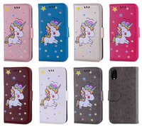 Wholesale unicorn glitter phone case for sale – best Unicorn PU Leather Wallet Case For Iphone XS MAX XR X SE Ipod Touch Star Glitter Luxury Phone Coque Card Slot Sparkle Flip Cover