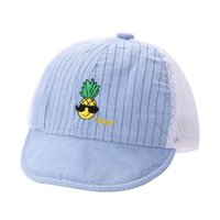 Wholesale Baby hat Boys Girls summer Cap Kids Summer Peaked Cap Mesh Hat Baby Adjustable Summer Hat Breathe and Soft Drop Shipping