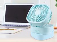 Wholesale Personal Fans - 4 color Handheld USB Fan Personal Rechargeable Fan Battery Recharge Color Optional Summer Air Cooler Electric Handheld Portable Fan EEA170