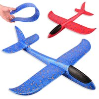 Wholesale 48cm Foam Throwing Glider model Air Plane Inertia Aircraft Toys Hand Launch Airplane Model To glide the plane Flying Toys