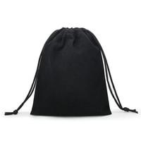 hediye takıları toptan satış-50 Adet / grup Kadife Siyah 3 Boyutları Mücevherat Hediyelik Çanta Brace Askı Torbalar Wholesale10 * 12 cm 7 * 9 cm 5 * 7 cm B-057