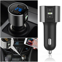 Wholesale usb player adapter - 2018 High-Quality Wireless In-Car Bluetooth FM Transmitter Radio Adapter Car Kit Black MP3 Player USB Charge Free Shipping