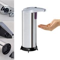Wholesale Infrared Dispenser - 280ml Automatic Touchless Soap Dispenser Fingerprint Resistant Liquid Infrared IR Sensor Soap Dispenser for Bathroom CCA8450 10pcs