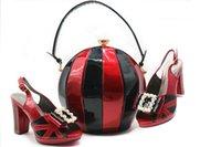 schuhe handtaschen sets großhandel-Fashion Lady Schuhe und Taschen zu passen Hohe Qualität Schuhe und Handtasche für Party Hochzeit