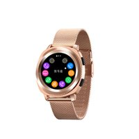 Wholesale watches sync iphone online – L2 Sport Smart Watch IP68 Waterproof Wireless Charging MTK2502 Steps Sleep Monitor Heart Rate Notifications Sync Bluetooth Call for iPhone X