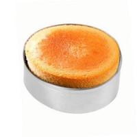 gâteau de coupe livraison gratuite achat en gros de-En gros Livraison gratuite 3 Pcs En Acier Inoxydable Cercle Rond Cookie Fondant Gâteau Pâte Moule Outil De Coupe