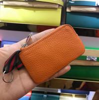 yumuşak para çantası toptan satış-Marka Hakiki Deri Para Cebi Kadın Dana cüzdan Yumuşak Çanta Çanta tuşları çanta cep tutucu Gerçek Görüntüler Fabrika Ucuz Toptan