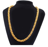 Wholesale vietnam gold chain necklace for sale - Group buy Dragon pattern dragon gown necklace Explosion models Vietnam sand gold jewelry Men domineering copper gold plated chain