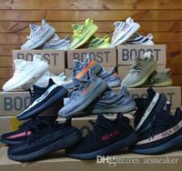 Wholesale day running lights - Free 3-7 Days DHL Shipping 2018 Sole 350 V2 Zebra Oreo Orange Grey Black Red Stripe Cream White Kanye West Running Shoes For Sale