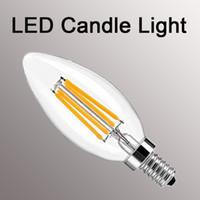 luzes de filamento venda por atacado-Clássico Dimmable levou Filament bulbo de Alta Potência globo de vidro lâmpada 110 V 220 V 240 V Retro led Edison lâmpada luz de vela