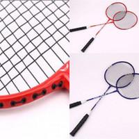 amantes do badminton venda por atacado-Amantes do novato Battledore Liga de Badminton Racke Dupla Raquetes de Treinamento de Fitness Adulto Raquete Anti Desgaste Venda Quente 20bb dZ