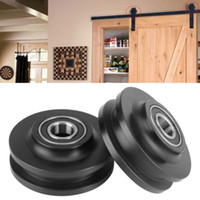 скользящие дверные фурнитуры оптовых-Eco-Friendly POM Sliding Barn Door Wheel Closet Hardware Roller Cabinet Window Pulley hook