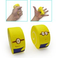 Wholesale minions gifts online - Kawaii Squishy Minions Cake CM Slow Rebound Scented Food Squeeze The Cute Squishies Decompression Toys Gifts