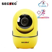 Wholesale wireless ip auto camera online - SECTEC P Cloud Wireless IP Camera Intelligent Auto Tracking Of Human Home Security Surveillance CCTV Network Wifi Cam