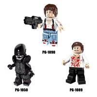 Wholesale Aliens Kid - 120pcs Mix Lot Movie Series Minifig Parasite Alien Ellen Ripley Figure Mini Building Blocks Figures Gift Toys for Kids