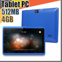 tablet fener kamera toptan satış-50X7 inç Kapasitif RK3126 Dört Çekirdekli Android 4.4 çift kamera Tablet PC 4 GB 512 MB WiFi EPAD Youtube Facebook Google Fener C-7PB