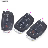 Wholesale hyundai elantra remote - Car Remote Key Case Fob 3 Button Flip Folding Key Shell for Hyundai Solaris Elantra ix25 i40 ix35 ix45 Series 2 Verna