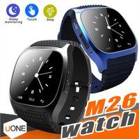 smartwatches iphone оптовых-M26 Смарт-часы Bluetooth Водонепроницаемые Smartwatches Пассометр Монитор SMS Наручные часы для Android Samsung Apple IOS IPhone X 8 Plus Дети