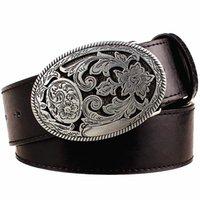 e423788593e9 Retro women s belt metal buckle weave Arabesque pattern leather belts jeans  trend punk rock strap decoration belt gift for women