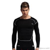 ropa deportiva al por mayor-Nuevas medias para hombre PRO de manga larga, estiramiento rápido, salud corporal, transpiración, transpiración, entrenamiento, ropa de entrenamiento