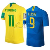 2018 World Cup Brasil Futbol Camisa Brazil Coutinho Gesus Soccer Jerseys  Football Camisetas Shirt Kit Maillot 96882a05d