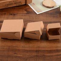 hochzeit schokolade verpackung groihandel-3 Größe Kleine Brown Kraftpapier Box Karton Verpackung Boxen für Geschenk Hochzeit Gunsten Verpackung Seife Backen akes Cookies Schokolade Verpackung Box