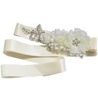 ingrosso fibbie da sposa nuziali-2018 Cinture di cristallo a fiore per abiti da sposa Cinture di nozze e cinture Cintura nuziale accessorio Cinturon De Novia CPA1230