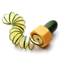 légume coupe achat en gros de-Spiralizer de légumes de poche Gadgets de cuisine en spirale Trancheur de légumes Déchiqueteuses Coupeur d'éplucheur Concombre Râpe de carotte Accessoires de cuisine B