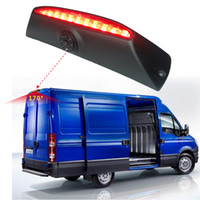 Wholesale iveco daily - LEEWA Car Brake Light IR 6-LED Rear View Reversing Camera for IVECO Daily 4 Gen 2011-2014(Without brake lights) SKU:5376