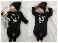 Wholesale Christmas Newborn Outfit Boy - newborn infant baby boy girl one-pieces romper jumpsuit bodysuit outfits clothes baby boy letter romper jumpsuits