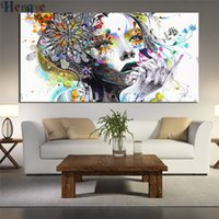 Wholesale sexy girls oil for sale - Group buy ZYXIAO Print flower sexy girl Oil painting on Canvas Professional Art Poster No Frame Wall Picture for Living Room Sofa Home Decor ys0004