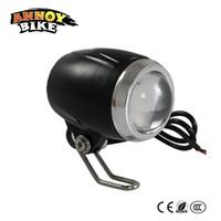hafif çerçeve bisikletleri toptan satış-Yeni Stil Bisiklet Işık Bisiklet Işık Konveks Lens Ile Spotlight 36V48V60V Elektrikli bisiklet Motosiklet Için CE CCC 3 Mod COB