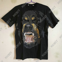 Wholesale 3d dog shirts - fashion designer spring summer luxury brand clothing t-shirt for men 3D Rottweiler dog print cotton casual tshirt tee tops t shirts