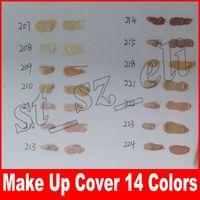 укрыватель грунтовки оптовых-Skin Concealer Foundation Макияж Чехол 14 цветов Primer Concealer Base Профессиональная основа для макияжа для лица