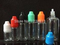 frascos cuentagotas de plástico 5ml al por mayor-100 piezas Claro PET Botella con Tapas 10ml Botellas Cuentagotas Plástico Eye Dropper Botellas CHILD PROOF