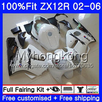 Wholesale Injection For KAWASAKI NINJA ZX1200 ZX R HM White black hot ZX R R CC ZX12R Fairing