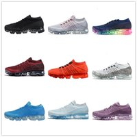 Wholesale rainbow plush - 2017 New Rainbow VaporMax 2018 BE TRUE Men Air Shock Running Shoes For Real Quality Fashion Men Casual Vapor Maxes Sports Sneakers