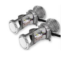h4 привел hi low оптовых-H4 LED CREE LED проектор объектива фар комплект Привет / низкий высокие низкие лучи лампы лампы против ксенона HID