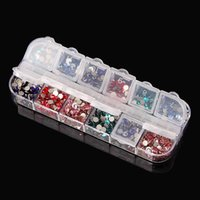контейнеры для пластмассовых изделий оптовых-12 отсек пустой пластиковый футляр для хранения контейнер коробка для продуктов искусства ногтя горный хрусталь серьги ювелирные изделия