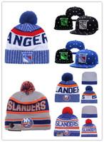 Wholesale Snapback Caps New York - NEW YORK RANGERS Snapback Caps Adjustable Hat Black Blue grey NEW YORK ISLANDERS Hockey Knit Hat beanies Caps