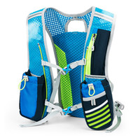 mochila de chaleco al por mayor-Mochila Trail Running Hombres Mujeres Mochila ligera Running 5L Marathon Fitness Chaleco hidratación Pack + 1.5L Bolsa de agua Opción