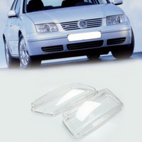 Wholesale volkswagen headlights - 2Pc Car Headlight Lens Automobiles Headlamp Clear Lenses Kit Replacement Cover Left and Right for VW Volkswagen Bora 1999-2005