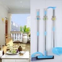 hook clip hanger Canada - Multifunction Sticker Adhesive PVC Silicone Bathroom Hook Wall Door Clothes Coat Hat Hanger Waterproof Clip Mop Broom Hooks