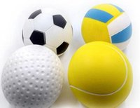 Wholesale hot toys soccer online - Hot Soccer Football Squishy Slow Rising Cream Scented relieves stress Kid Toys Basketball Slow Rising Squishy