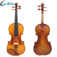 Wholesale ebony flame online - Full Size Violin Spruce Flame Maple Veneer Fiddle for Performer Jujube Wood with Case Rosin Wiper Christmas Gift Present